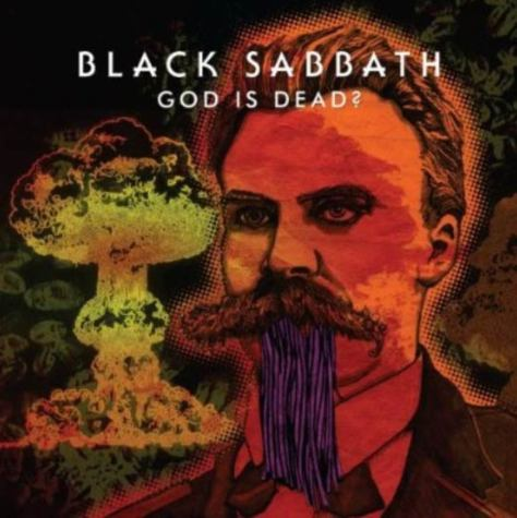 The cover for Black Sabbath's single: God is Dead?