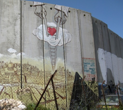 Graffiti art on the Israeli separation wall