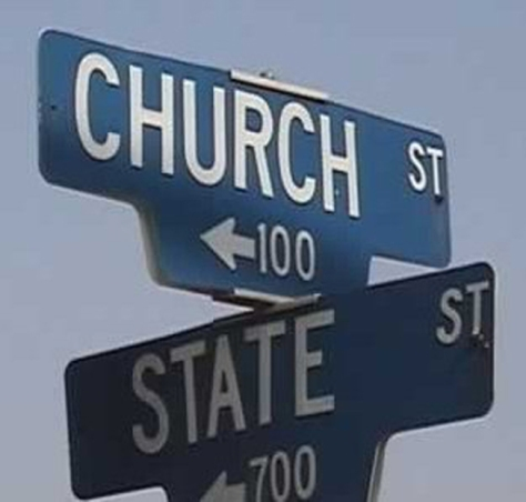 Church State signs