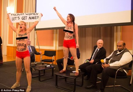 FEMEN protesters at Berlin's Islamic Week (Credit: Action Press/Rex. Source: Daily Mail)